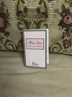 全新 Christian Dior Miss Dior Absolutely Blooming Eau de Parfum 女士香薰 試用裝 Spray 香水 試用 perfume sample EDP EDT