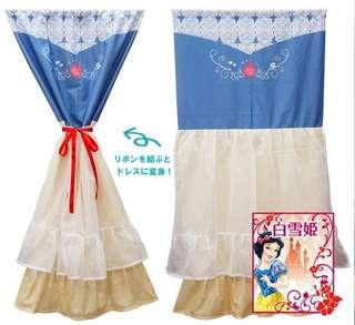 日本白雪公主裙禮服門簾 窗簾 迪士尼 disney dress curtain snowwhite 公主房