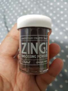 Brown zing embossing powder