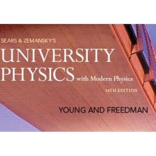 Y&F Textbook University Physics 14th Edition