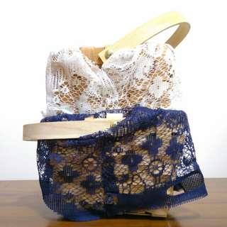🆕 Lace Rattan Basket