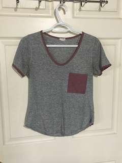 Garage Grey and Purple T-Shirt (M)