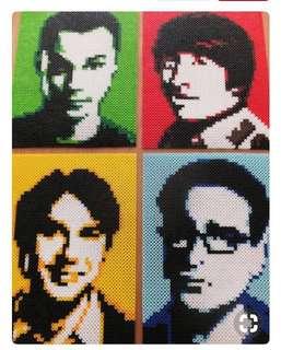 Big Bang Theory Hama Bead Design