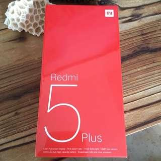 Brand new 紅米5 plus 64BG 黑色