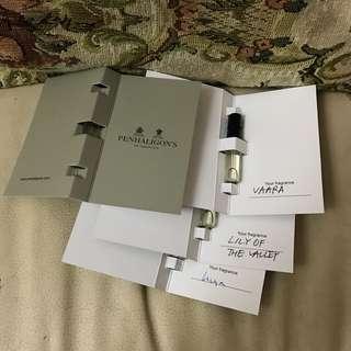 百年香水品牌 Penhaligon's Vaara Luna Lily of the valley sample 香水 EAD DE TOILETTE  EAD DE PARFUM EDT EDP perfume