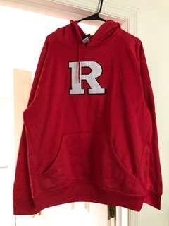 Rutgers hooded sweatshirt unisex size large
