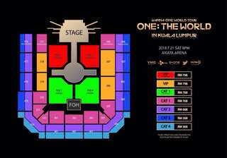 Wanna One World Tour in Kl Cat 1 308 row E