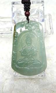 Type A Burmese Jade (Jadeite) Pendant 缅甸玉翡翠吊坠