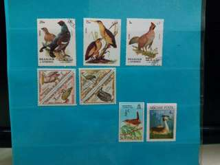Set of Bird Stamps