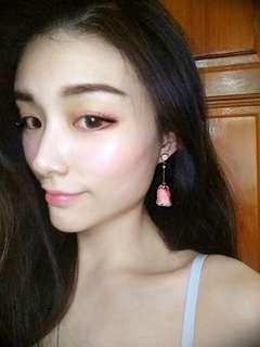 Handmade Frozen Rose Earrings