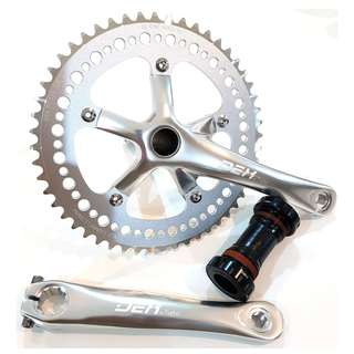DEX CNC 52T Crankset + Hollow Tech With Bottom Bracket Single Speed Fixed Gear Aluminum Alloy for Fixies / MTB / Road Bikes / Bicycles