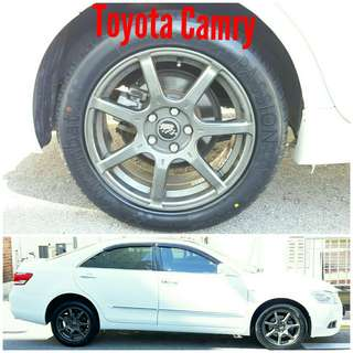 Tyre 215/55 R17 Membat on Toyota Camry 🐕 Super Offer 🙋♂️