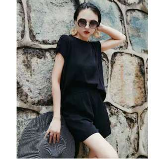 Stretchable Knit Top and Bottom (can fit up to XL)
