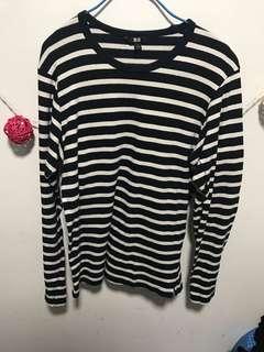 Uniqlo black white sweater