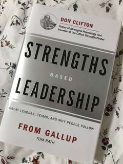 Brand New Strengths Based Leadership from GALLUP book