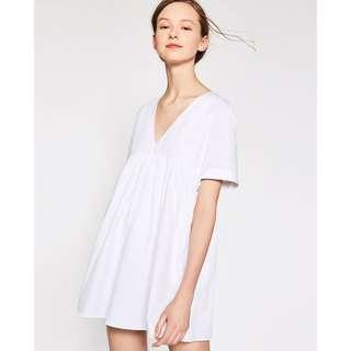 (BN) 💯 Authentic Zara White Poplin Jumpsuit Dress size XS