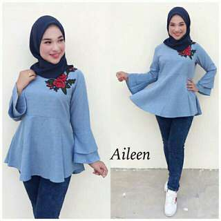 *FREE DELIVERY to WM only / Ready stock* Ladies Ailen blouse each as shown in design/color no 3 only. Free delivery is applied for this item.