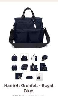 Mizzue black convertible tote backpack