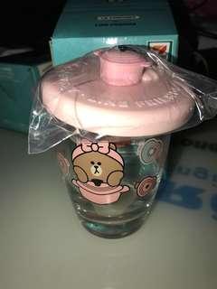 7-11 Line Friends Choco粉紅色玻璃杯