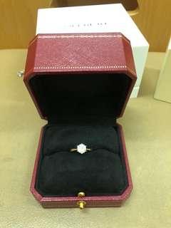 一卡鑽石戒指 diamond ring platinum pt950 鉑金 SICVD