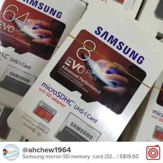 Samsung micron SD card (32GB  only)