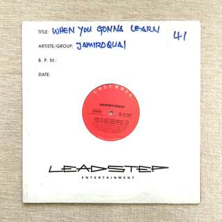 "12"": Jamiroquai - When You Gonna Learn? Single Vinyl Record"