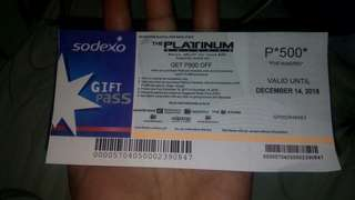 Platinum Karaoke gift pass