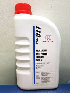 Honda Coolant All Seasons Anti Freeze Coolant Type 2 (1 litre)
