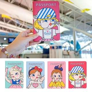 bentoy 新版 韓版可愛卡通 棒棒 女孩 護照夾 多功能證件包 卡夾 卡套 護照套 皮夾 棒棒糖