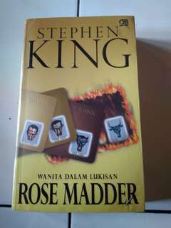 Buku/Novel Rose Madder Wanita Dalam Lukisan by Stephen King
