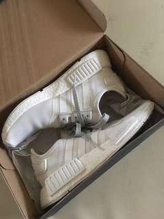 免運 Adidas NMD R1 全白反光鞋帶