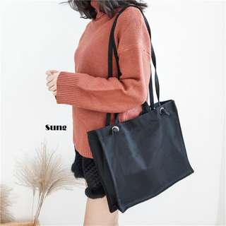 Sung Canvas Sling Tote Bag