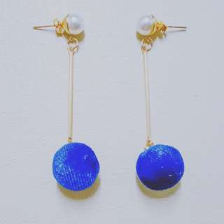 Pearls and Pompoms Dangle Earrings