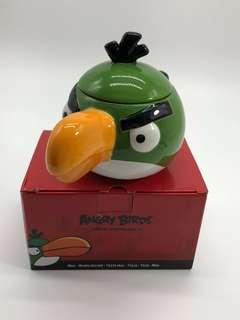 🚚 全新 憤怒鳥造型 馬克杯 小盆栽(綠鳥)