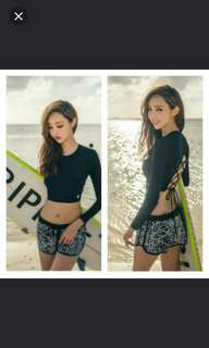 $25 (in stock) BN 3 Pieces Long Sleeve/Rash Guard Swimwear