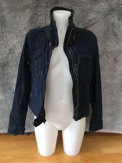 Abercrombie and Fitch Navy Blue Spring Jacket