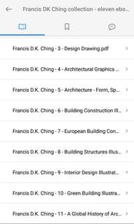 Francis D.K Ching Collections (11 Books Compiled)