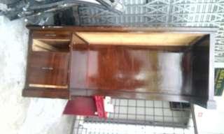 Oak wood writing table