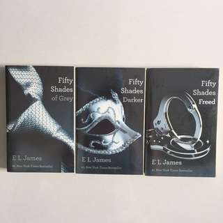 Fifty Shades Of Grey (Set of 3 Different Titles)
