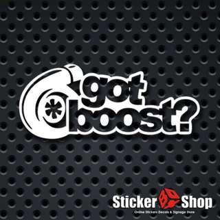 Got Boost? Decal