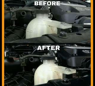 Pembersihan engine mobil