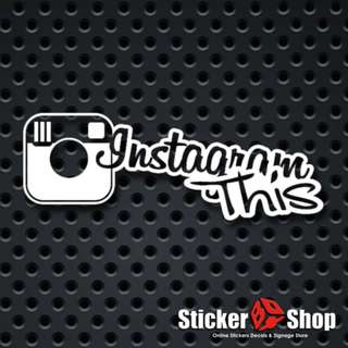 Instagram This Decal