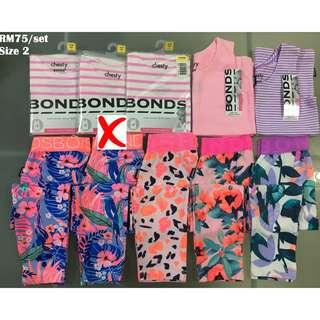 Bonds Chesty & Legging Set Size 2