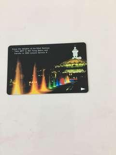 SMRT Card -Sentosa's night scenery (Single Trip Card)