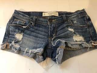 Abercrombie & Fitch Denim Shorts -size 24