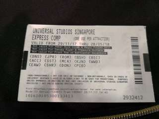 Universal express  5 ticket