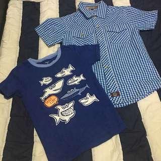 Polo and shirt