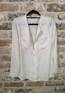 Chiffon Button Up Blouse Size S