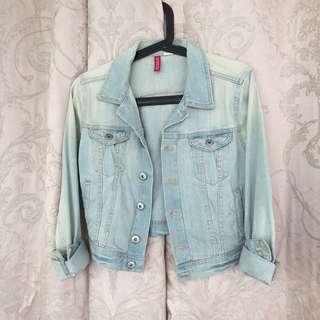 H&M crop denim jacket