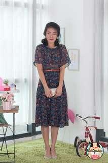 🍿 Vintage Midi Dress VD1264